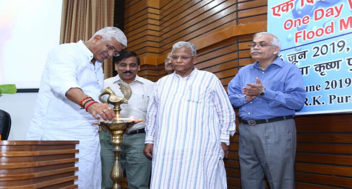 "Lamp Lighting Ceremony for ""One Day Workshop on Flood Management"" at Central Water Commission"
