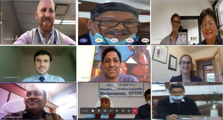 Indian and Australian team virtual visit